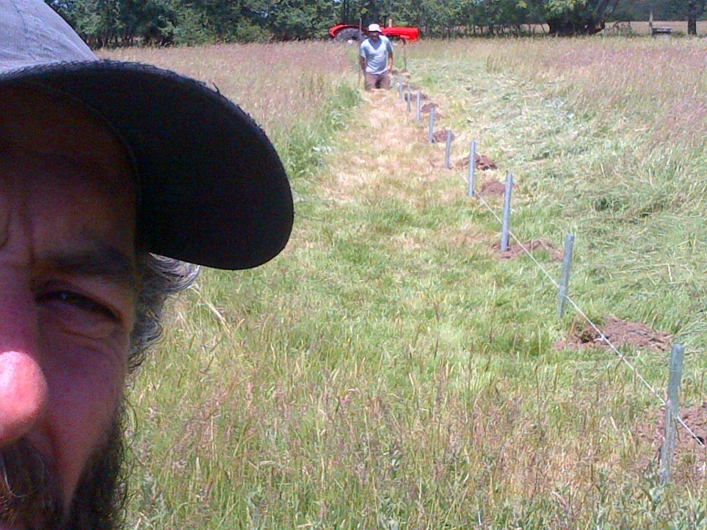 marking out polytunnel selfie!